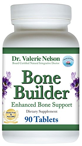 Dr. Valerie Nelson's Bone Builder ~Bone Strength - Bone Health Support with Calcium Magnesium Boron Silica Vanadium D3 & More 120 Tablets (Silica Tabs 120)