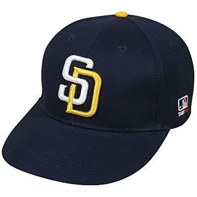MLB ADULT San Diego PADRES Home Navy Blue Hat Cap Adjustable Velcro TWILL