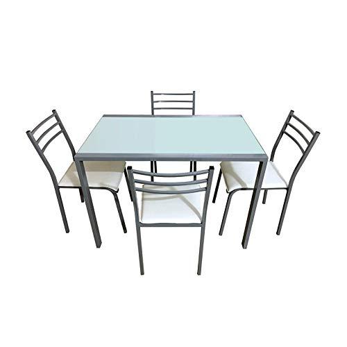 BRICOGROUP Conjunto Mesa + 4 sillas: Amazon.es: Hogar