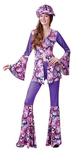 Bristol Novelty AC755 Groovy Hippy Woman Costume, Size 10-14 -