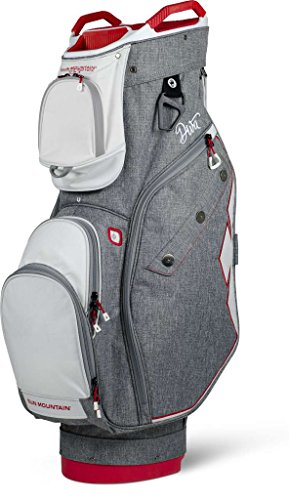 Sun Mountain Women's Diva Golf Cart Bag - Charcoal-White-Red (Mountain Putter Golf Bag)