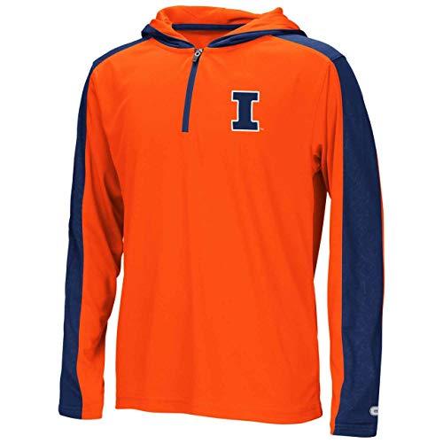 Illinois Fighting Illini Youth NCAA Heliskiing 1/2 Zip - Team Color, Youth Medium