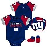 NFL Unisex-Baby Newborn & Infant 50 Yard Dash Bodysuit, Bib & Bootie Set