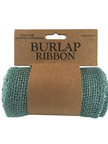 Burlap Craft Ribbon Roll (5.5 in Wide x 15 Ft Long)