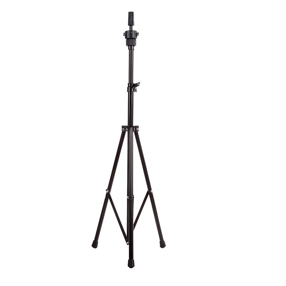 Anself Adjustable Wig Head Stand Tripod Holder Mannequin Tripod for Hairdressing Training with Carry Bag