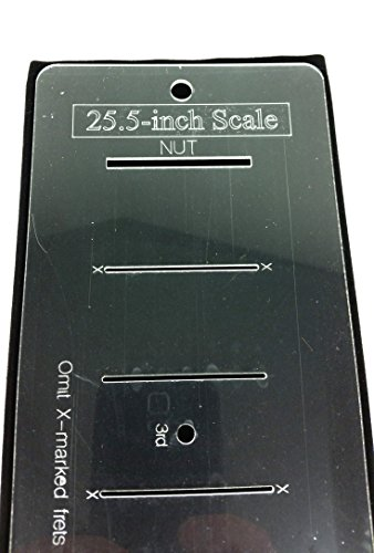 25.5-inch Fretting Scale Marking Template for Guitars - Laser-cut-Acrylic - Popular Electric Guitar Scale as used on Fender Telecaster(R) & Stratocaster(R) ()