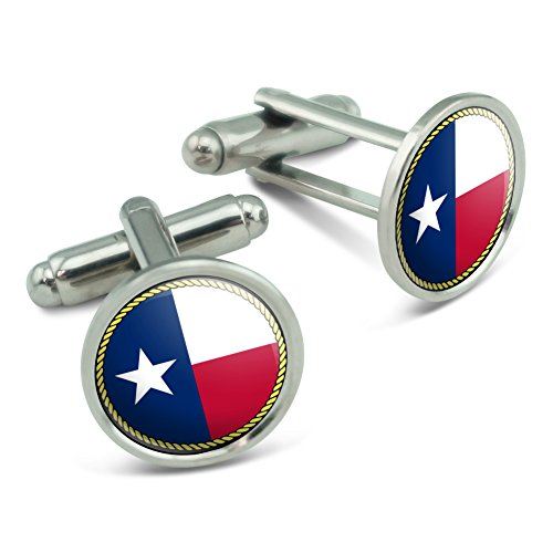 Made on Terra Texas State Flag Men's Cufflinks Cuff Links Set