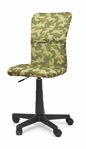 Urban Shop WK656395 Swivel Mesh High Back Chair, Camo