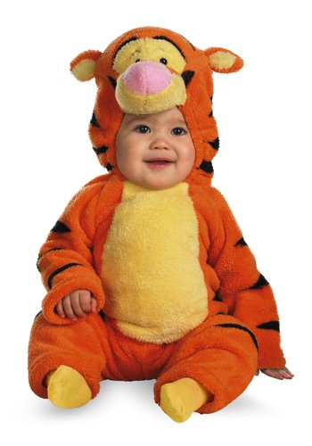 Tigger Deluxe Two-Sided Plush Jumpsuit Costume (12-18 -