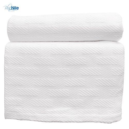 Basket Weave Twin/Twin XL Cotton Blanket, lightweight summer