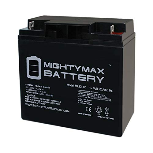 - Mighty Max Battery 12V 22AH Battery Replaces Solar Booster Pac ES1217, ES1230, ESP5500 Brand Product