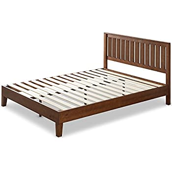 Amazon Com Ikea Hemnes Queen Bed Frame Black Brown Wood