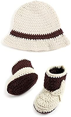 Jazz Sombrero de ganchillo para recién nacido, disfraz de vaquero ...