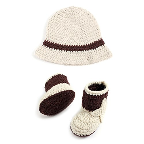 Milkhouse Baby Photography Props Cowboy Hat Shoes Knitted Costume