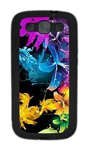 Samsung Galaxy S3 Case Cover - Beautiful Fractal Flowers Custom TPU Silicone Case for Samsung Galaxy S3 / I9300 Black