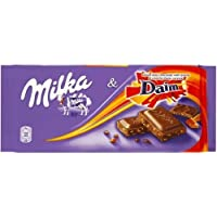 MILKA Chocolate Variety Pack- DIAM, ALPENMILCH, Strawberry - 100G Pack of 3