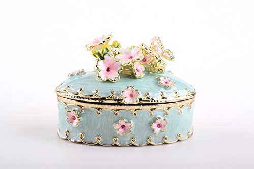 x Trinket Box Faberge Style Decorated with Swarovski Crystals Unique Home Decor ()