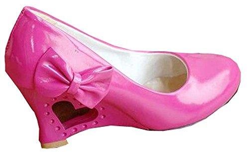 Rouge femme Rose chaussures en cuir verni talons xYzRII