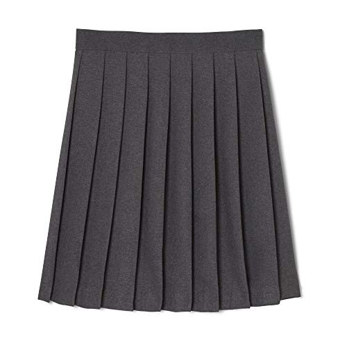 French Toast  Girls' Pleated Skirt, Heather Gray, 14,Big Girls -
