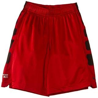 "Nike Boys Elite Stripe Big Kids 10"" Basketball Shorts, Large, Red, 546649 673"