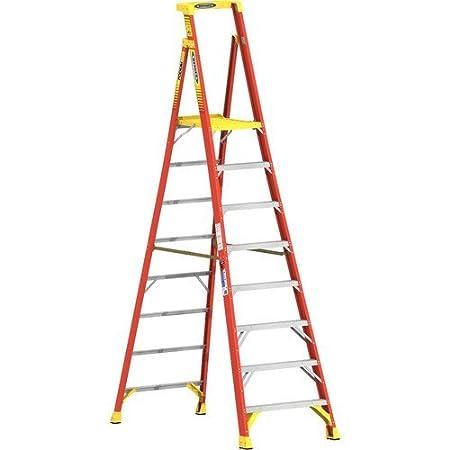 WERNER CO PD6208 Type IA Aluminum Podium Ladder - 8'