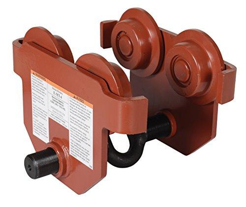 (Vestil E-MT-4 Steel Low Profile Eye Manual Push Trolley, 4,000-lb. Capacity, 2-1/2 - 8-5/8