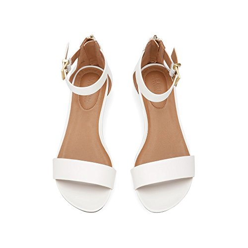80b0dd5abc6 Kenneth Cole REACTION Women s Great Viber 2 Piece Wedge Sandal · Fioni  Women s Starry Two-Piece Wedge Flat