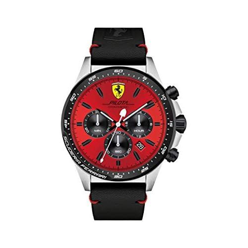 chollos oferta descuentos barato Reloj Scuderia Ferrari para Hombre 0830387 Negro Rojo Negro