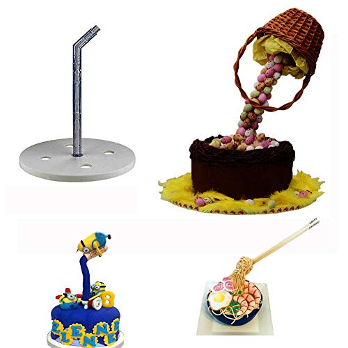BUSOHA Cake Support Structure Frame Anti Gravity Cake Pouring Kit for Birthday/Wedding/Anniversary Party Reusable Standing Cake Decorating Armature ()