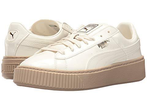 [PUMA(プーマ)] レディーススニーカー靴シューズ Basket Platform Patent [並行輸入品] US 10(B:96.5cm, W:79cm, H:103cm) B - Medium Marshmallow/Marshmallow B07P9G56HL