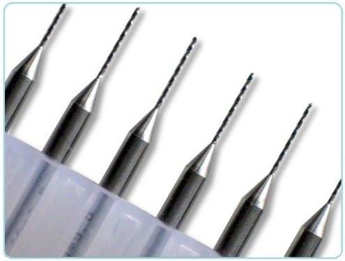 CNC Dremel 1//8 Shank For PCB Soft Metals Jewelry 10 pcs 0.8mm Diameter Tungsten Carbide Macro Drill Bits