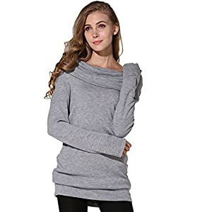 Merryfun Women's Spring Off-Shoulder Pullover Sweater Bottoming Shirt
