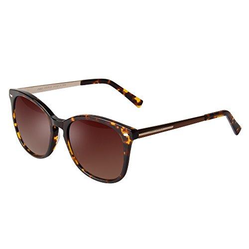 Acetate 100 Gels (JO Womens Mens Wayfarer Vintage Retro Oversized Round Designer Sunglasses JO7221 Leopard)