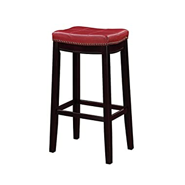 Linon Claridge Bar Stool, Red