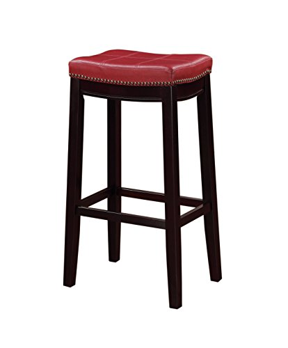 Linon 55816RED01U Claridge Bar Stool, 32