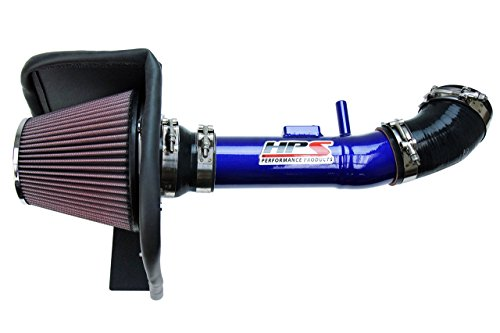 04-11 Ford Ranger 4.0L V6 HPS Blue Shortram Air Intake Kit with Heat Shield Short Ram