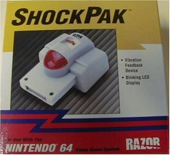 New! N64 Led Rumble Shock Pak Pack for Nintendo 64 ()