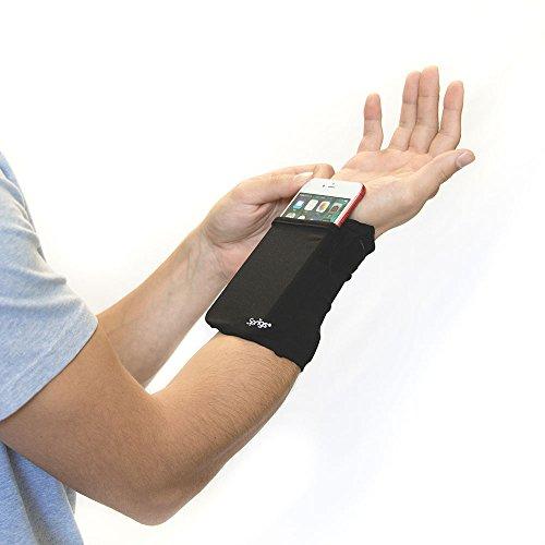 Sprigs Banjees 2 Pocket Wrist Wallet - Black/Black, One Size Fits Most (Banjee Wrist Wallet)