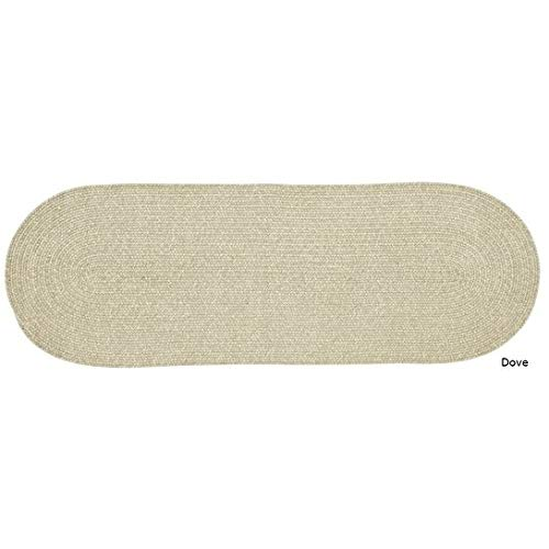 2' x 6' Off White Braided Rug Chenille Oval Area Rug Knitting Texture Rust Floor Carpet Indoor/ Outdoor Tweed Jute Rug Runner For Living Room Kitchen Lounge Casual Style Reversible Handmade, Polyester