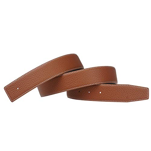 Replacement Belt Strap Reversible Replacement Belt Strap Genuine Leather Fits - for Hermes 1.5in Wide 34inch Brown