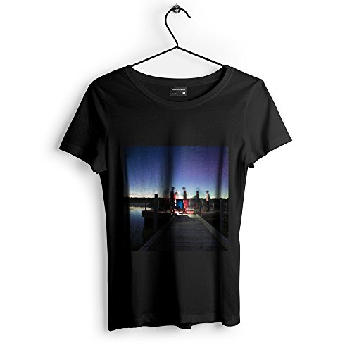 Sky Night - Unisex Tshirt - Picture Photography Artwork Shirt - Black Adult Medium (None-7289C) (Bench Galaxy Therapy)