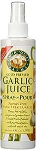 "Garlic Juice Spray or Pour ""2 Pack"" - (8 Oz Bottles)"