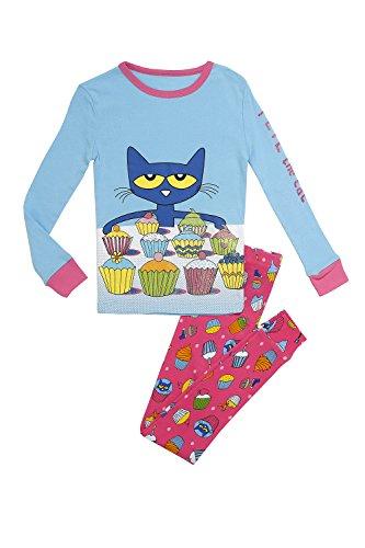 Pete the Cat Baby Girls 2-Piece Snug Fit Pajama Set, Cupcakes 24 Months