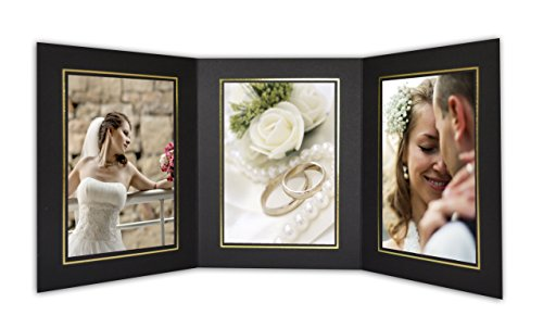 Golden State Art, Cardboard Photo Folder for 3 5x7 Photo (Pack of 50) GS005 Black Color by Golden State Art (Image #7)
