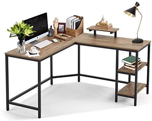 L Shaped Computer Desk 54 Inch Writing Laptop Desk