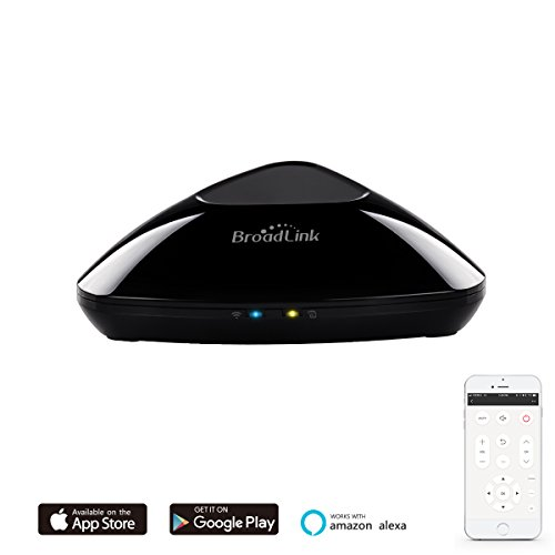 Price comparison product image BroadLink RM Pro WiFi Smart Home Hub, IR RF All in One Automation Learning Universal Remote Control Compatible for Apple Android Smartphones, Compatible with Alexa, Black