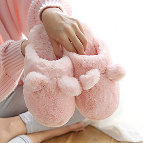 outdoor pour Automne Indoor Femme Slippers Minetom Peluche Pantoufles A Chaussures Unisexe Pink Chaussons Couple Hiver Coton Homme Femme FO1gaq