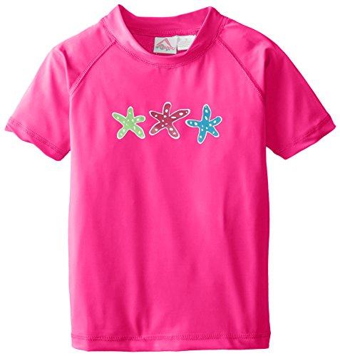 - Kanu Surf Big Girls' Jade UPF 50+ Sun Protective Rashguard Swim Shirt, Ariel Pink, Large (12)