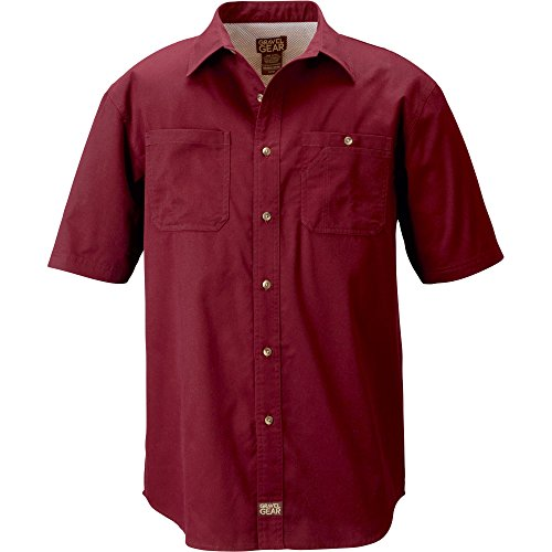 Gravel Gear Men's Brushed Twill Short Sleeve Work Shirt With Teflon (2XL)
