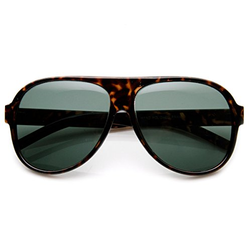 zeroUV - Classic Tear Drop Glass Lens Plastic Aviator Sunglasses - Teardrop Sunglasses